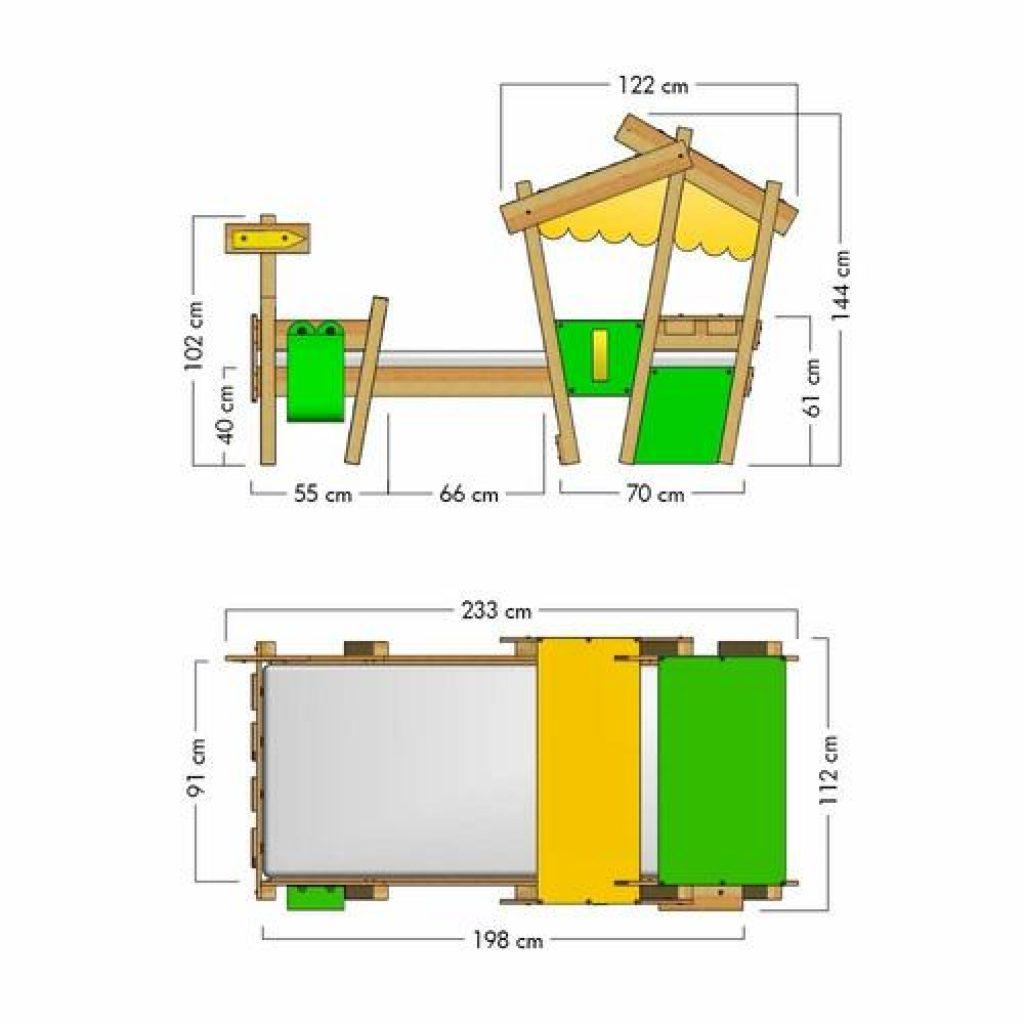 Dimension du lit cabane