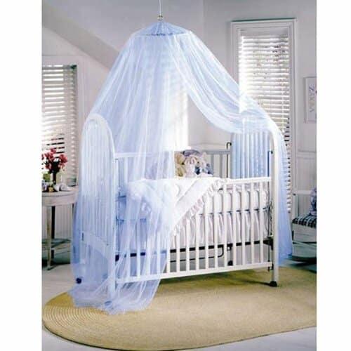 Ciel de lit bébé bleu