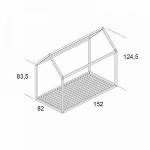 Plan schéma d'un lit cabane Montessori