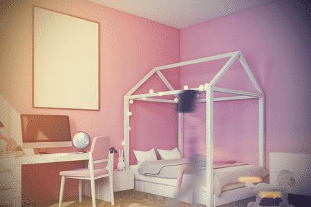 lit cabane fille