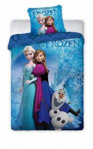 couette et tête d'oreiller reines des neiges pour lit de fille