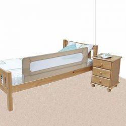 Barrière de lit filet sur un lit