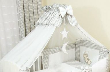 Ciel de lit blanc pour bébé